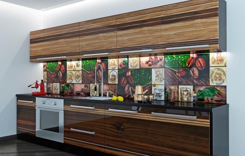 Настенная панель для кухни с фотопечатью фото